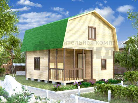 6х4- с крышей с фасада и террасой+верандой шириной 2м