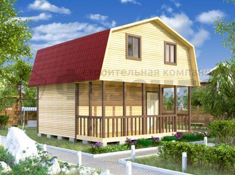 6х4- с крышей с фасада и террасой шириной 2м