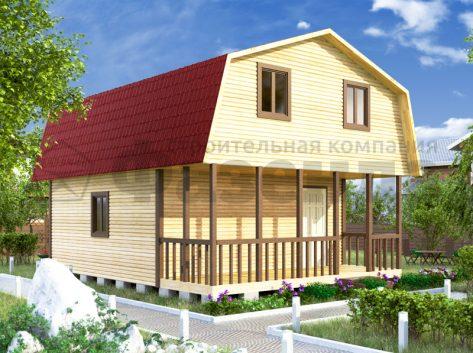 6х6- с крышей с фасада и террасой шириной 2м 2