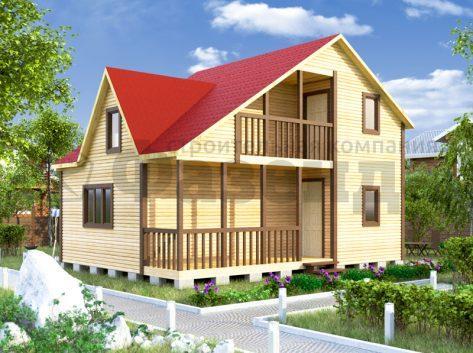 6х8  с фонарем и террасой, балконом шириной 1,5м 12